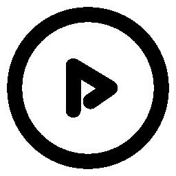 丸囲みの三角矢印のアイコン