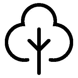 広葉樹の無料アイコン