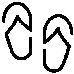 ビーチサンダルの無料アイコン