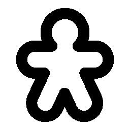 ジンジャーブレッドマンの無料アイコン