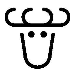 トナカイの無料アイコン
