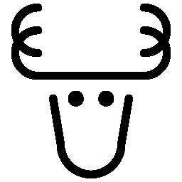トナカイの無料アイコン2