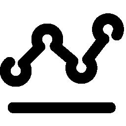 折れ線グラフの無料アイコン