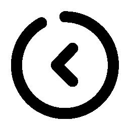 丸付き左矢印の無料アイコン