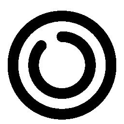 コイン風の円型アイコン